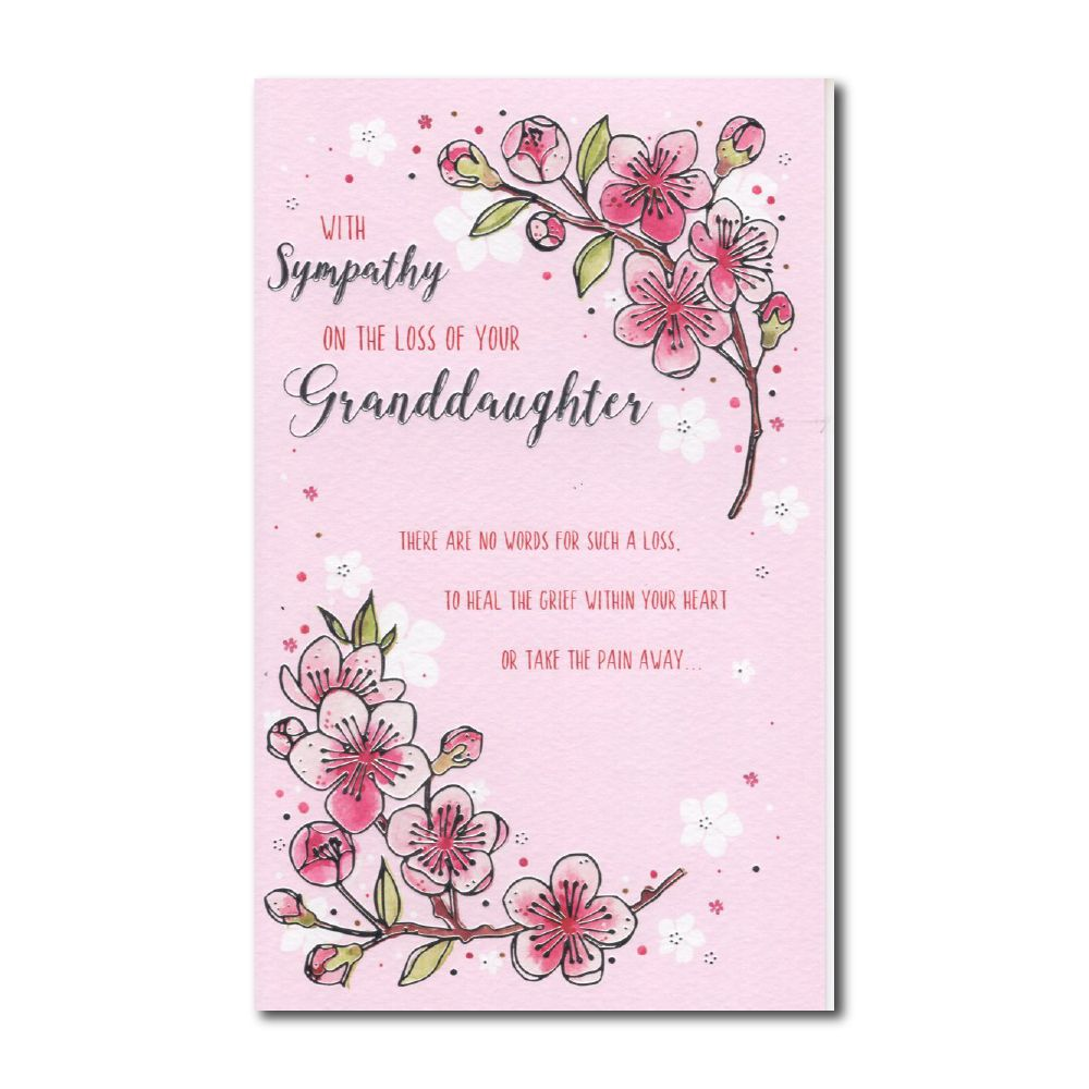 With Sympathy On The Loss Of Your Granddaughter - Card