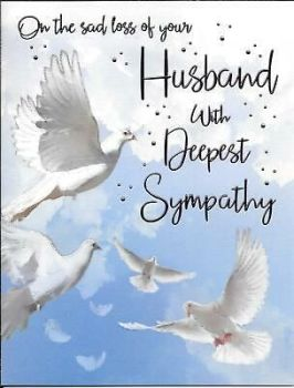 The Sad Loss Of Your Husband With Deepest Sympathy - Card