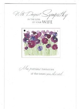 With Deepest Sympathy In The Loss Of Your Wife - Card