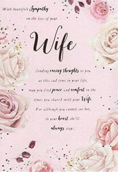 With Heartfelt Sympathy On The Loss Of Your Wife - Card
