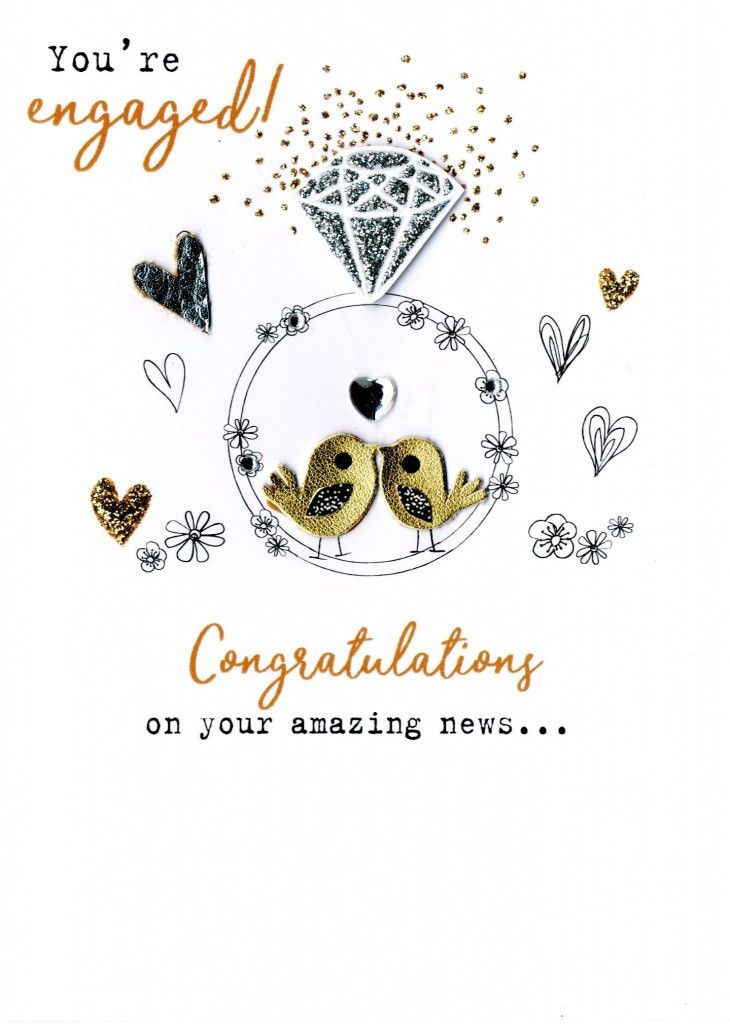 You're Engaged! Congratulations On Your Amazing News ... - Card