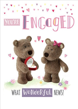 You're Engaged! What Wonderful News! - Teddy Card