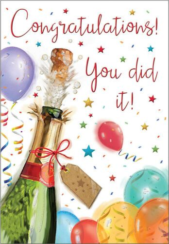 Congratulations! You Did It! - Card