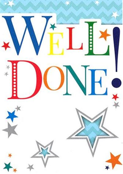 Well Done! - Card