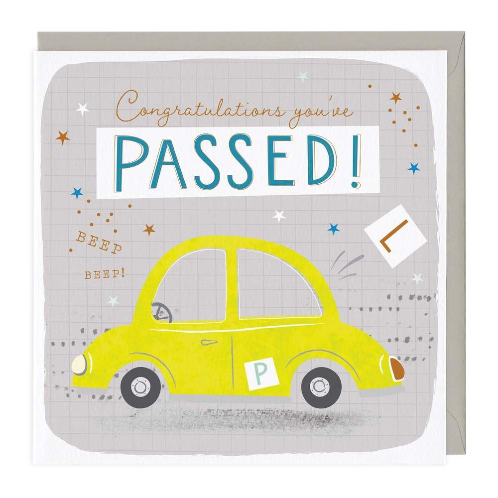 Congratulations You've Passed! Beep Beep - Card
