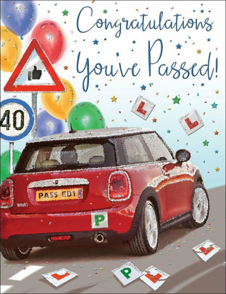 Passed Driving Test Cards