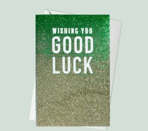 Wishing You Good Luck - Glitter Ombre Card