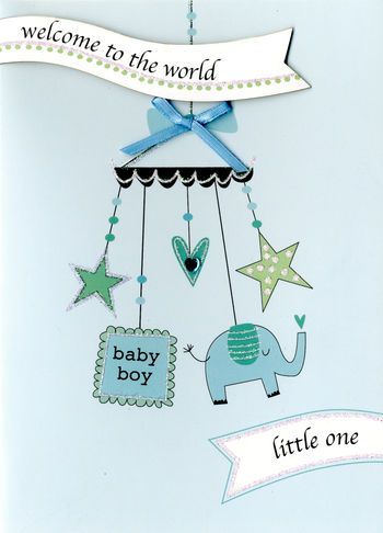 Welcome To The World Little One - Baby Boy - Card