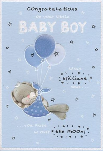 Congratulations On Your Little Baby Boy - Card