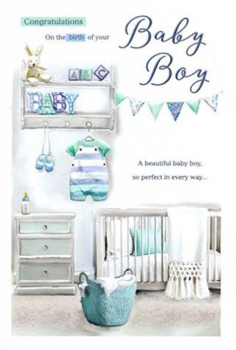 Congratulations On The Birth Of Your Baby Boy - Card