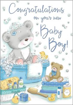 Congratulations On Your New Baby Boy! - Card