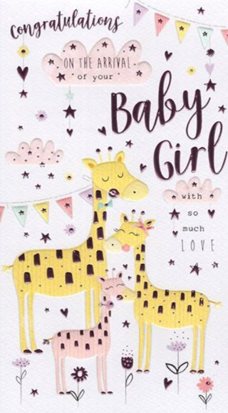 Congratulations On The Arrival Of Your Baby Girl - Card