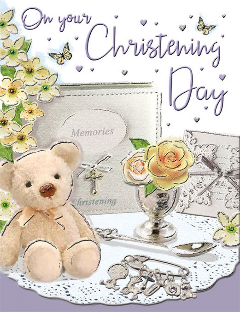 On Your Christening Day - Card