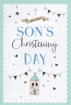 On Your Son's Christening Day - Card