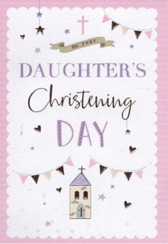 On Your Daughter's Christening Day - Card