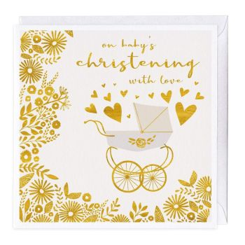 On Baby's Christening With Love - Card