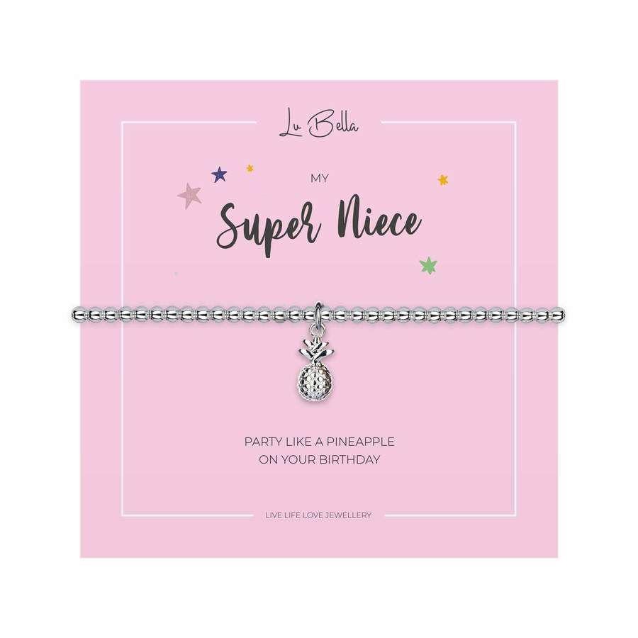 Children's My Super Niece Charm Bracelet