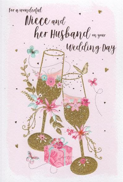 For A Wonderful Niece And Her Husband On Your Wedding Day - Card