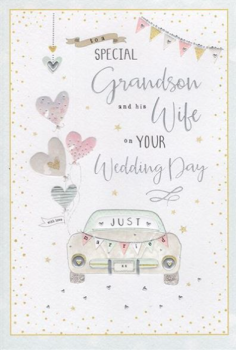 To A Special Grandson And His Wife On Your Wedding Day - Card