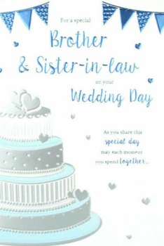 Brother & Sister In Law On Your Wedding Day - Card