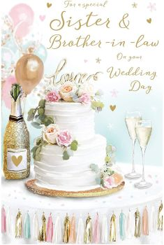 For A Special Sister & Brother In Law On Your Wedding Day - Card