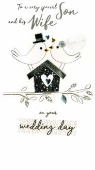 To A Very Special Son And His Wife On Your Wedding Day - Card