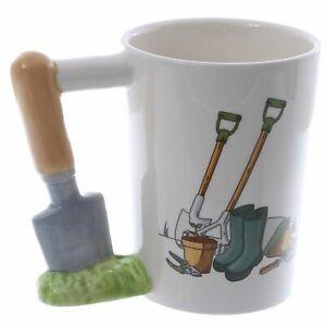 Fun Garden Trowel Shaped Handle Ceramic Mug