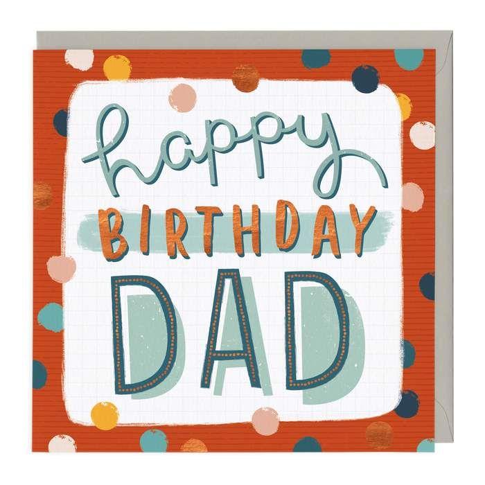 Happy Birthday DAD - Spots -  Card