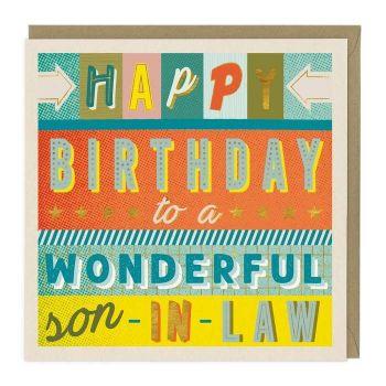 Happy Birthday To A Wonderful Son-In-Law - Card