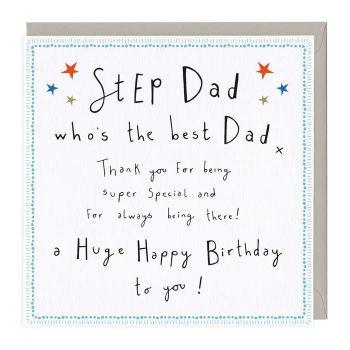 Step Dad The Best Dad Birthday - Card