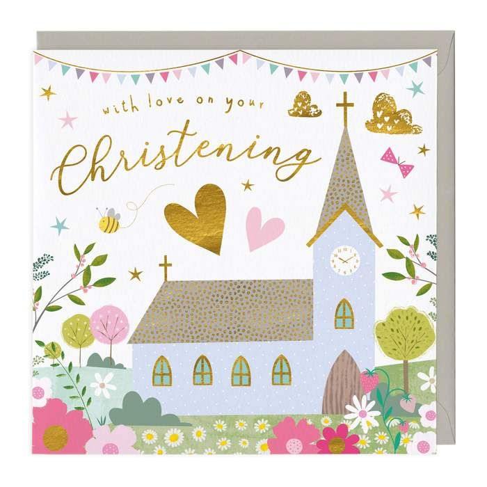 With Love On Your Christening - Card