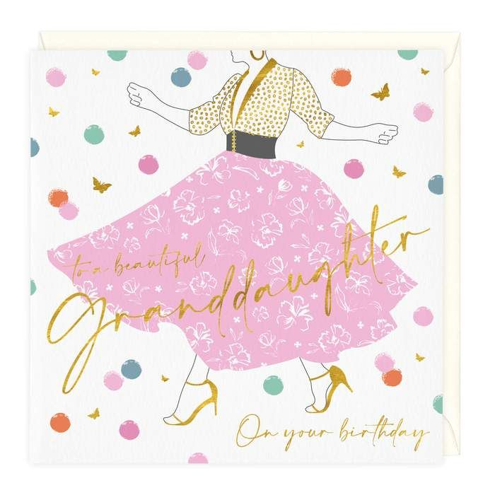 To A Beautiful Granddaughter Birthday - Card