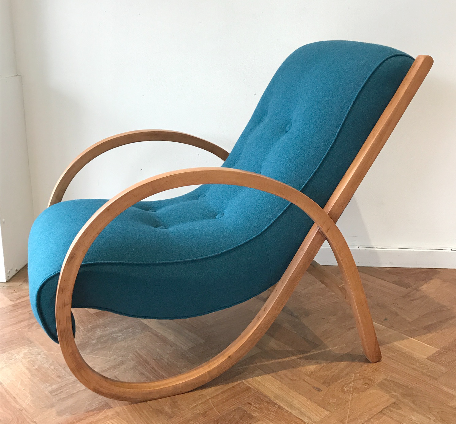 Suparest chair in Camira Synergy wool felt by Spring Upholstery Brighton