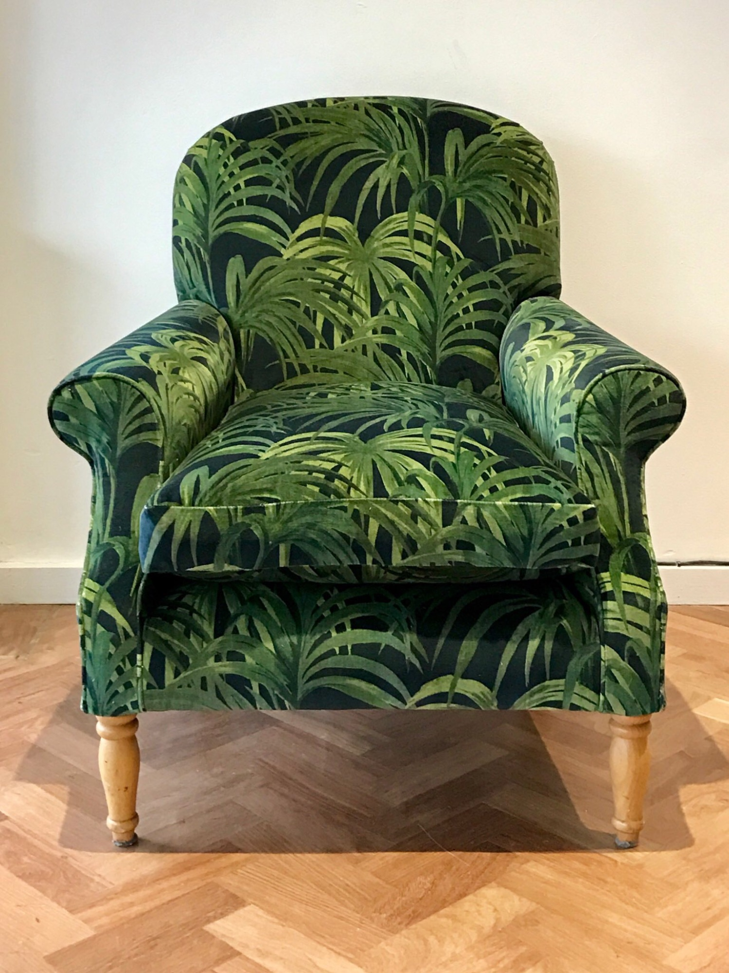 Modern arm chair in House of Hackney  fabric by Spring Upholstery Brighton
