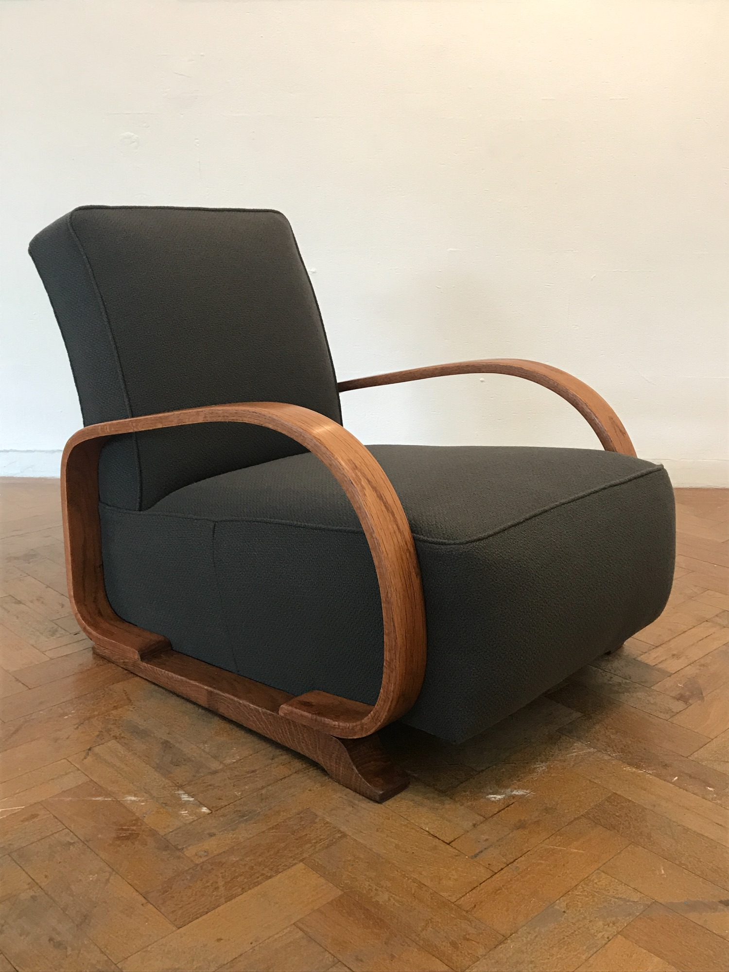 1930's Heal's arm chair with bentwood arms  by Spring Upholstery Brighton
