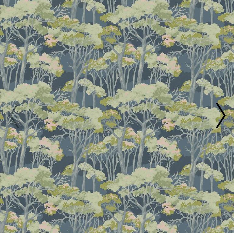 Arboreal Dusk printed velvet