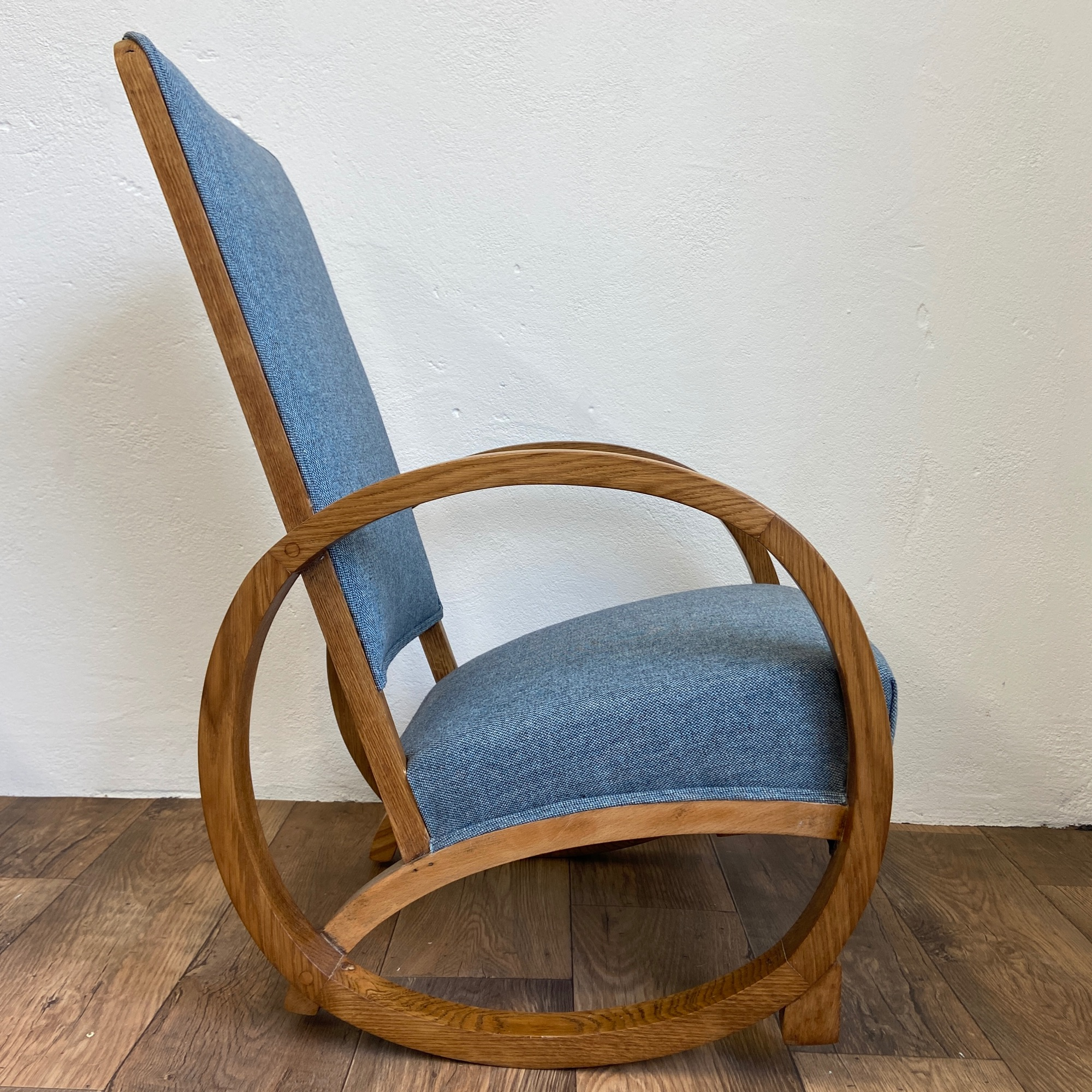 1930's rocking chair with bentwood arms by  Spring Upholstery Brighton