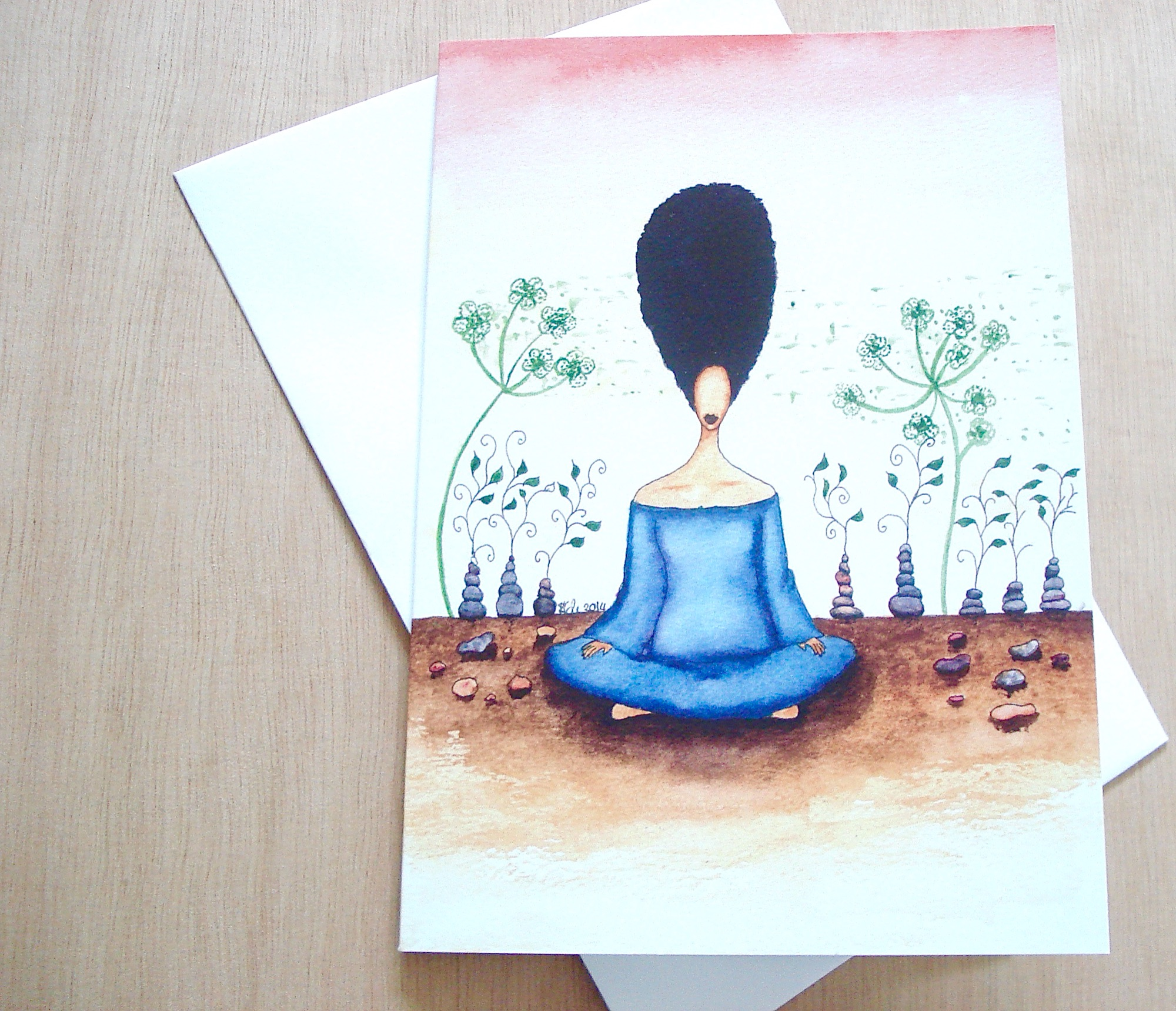 Needing Stillness Greeting Card by Stacey-Ann Cole