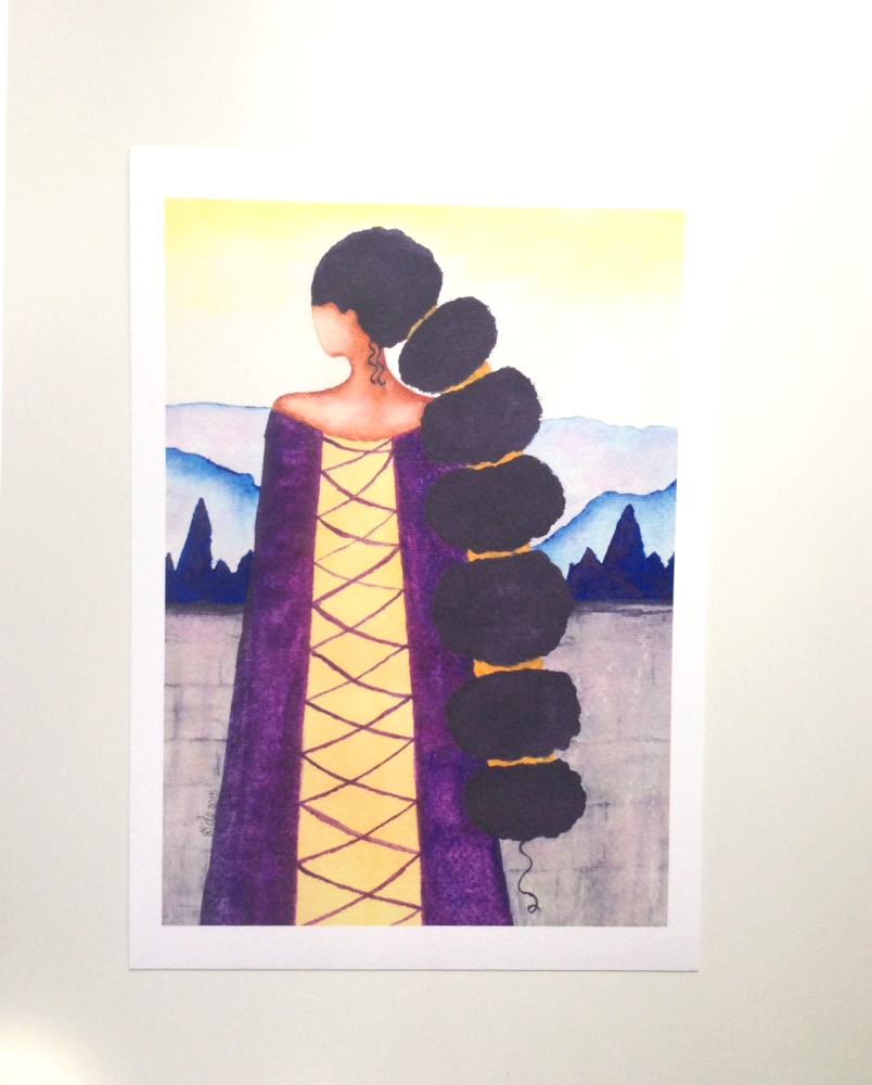 African American Artwork Print 'Queen', A4 Size, Unframed