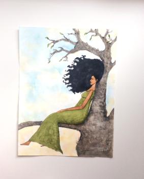 "'Presence"" Afro Caribbean Original Artwork"