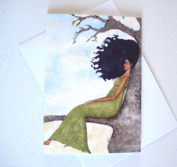 Afrocentric Greeting Card 'Presence'