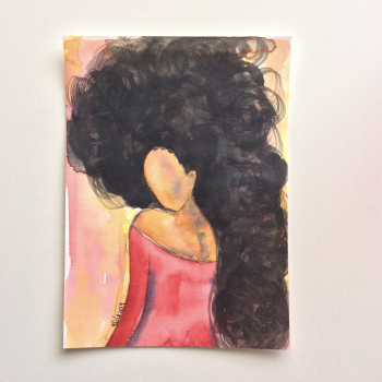 Original Watercolour Afrocentric Art 'Captivating' (Unframed)