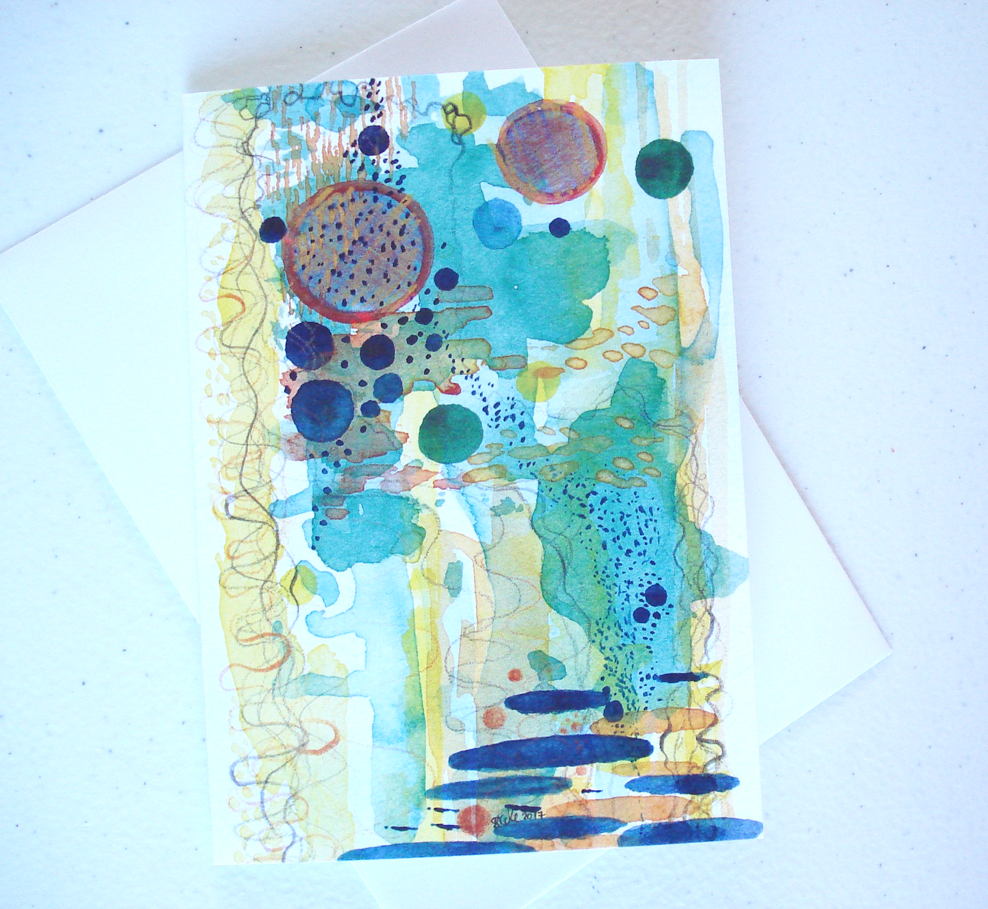 Tide Pool Greeting Card by Stacey-Ann Cole