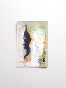 Original Mixed Media Abstract Art 'Plume' (Unframed)