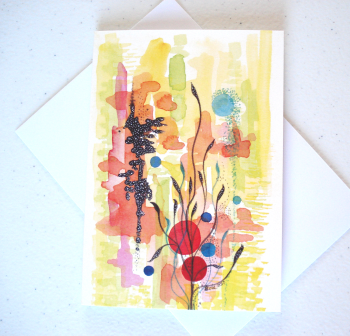 Abstract 'Japanese Garden' Greeting Card