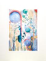 ABSTRACT ART PRINT - New Life A4 - 11.7