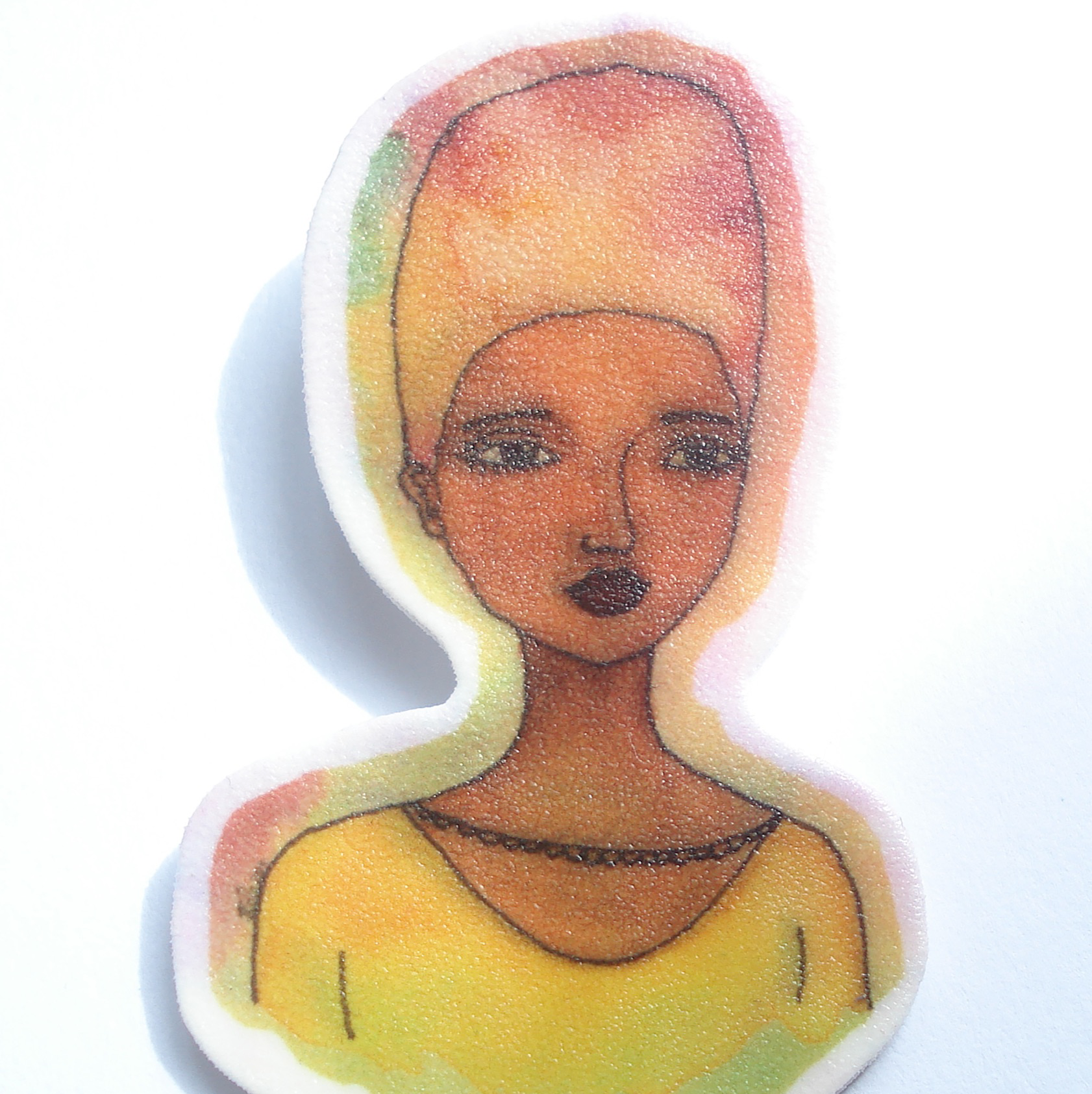 Large Handmade Afrocentric Brooch 'Grace'