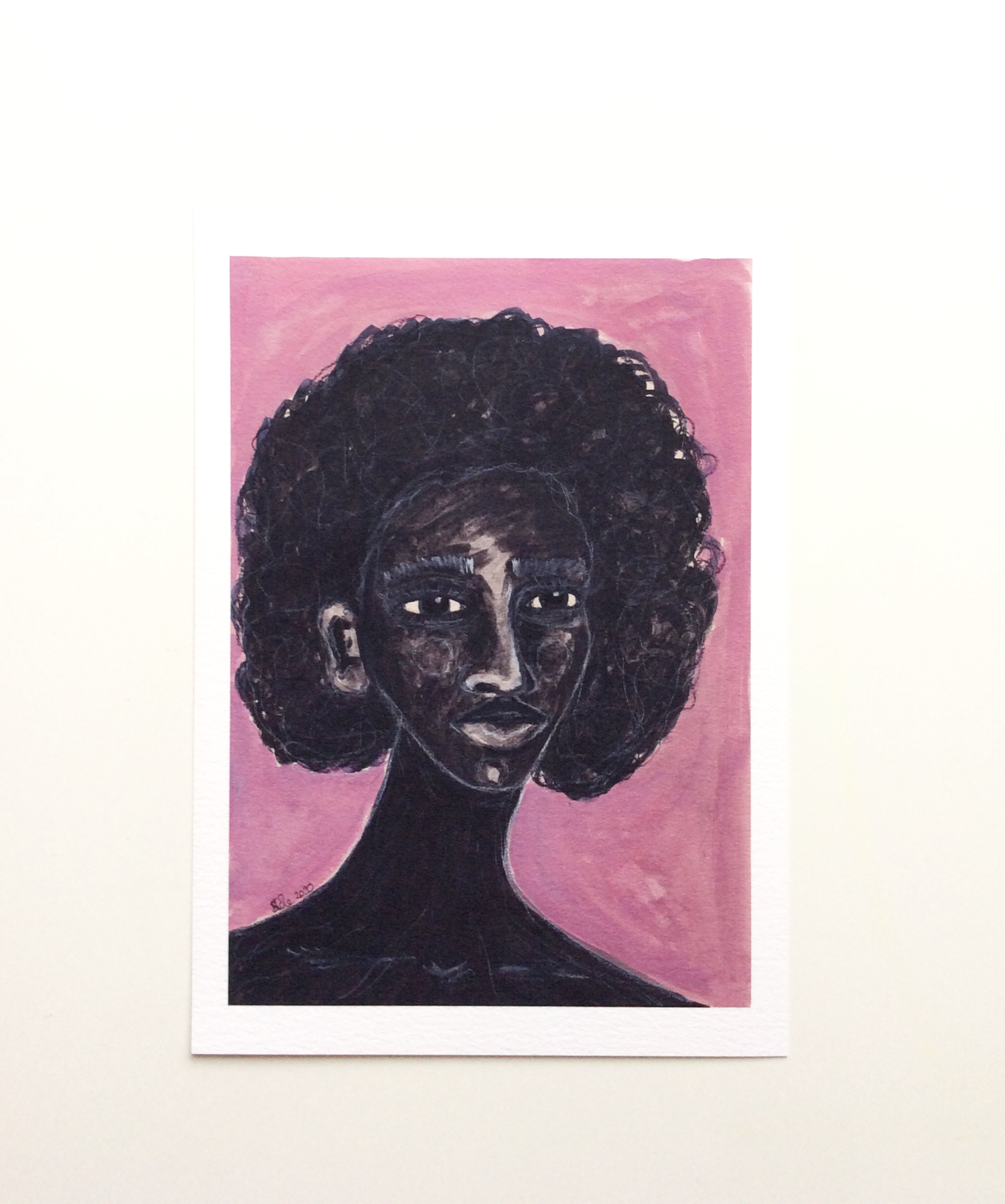 Black Woman Artwork print called 'Stronger Now' by Stacey-Ann Cole