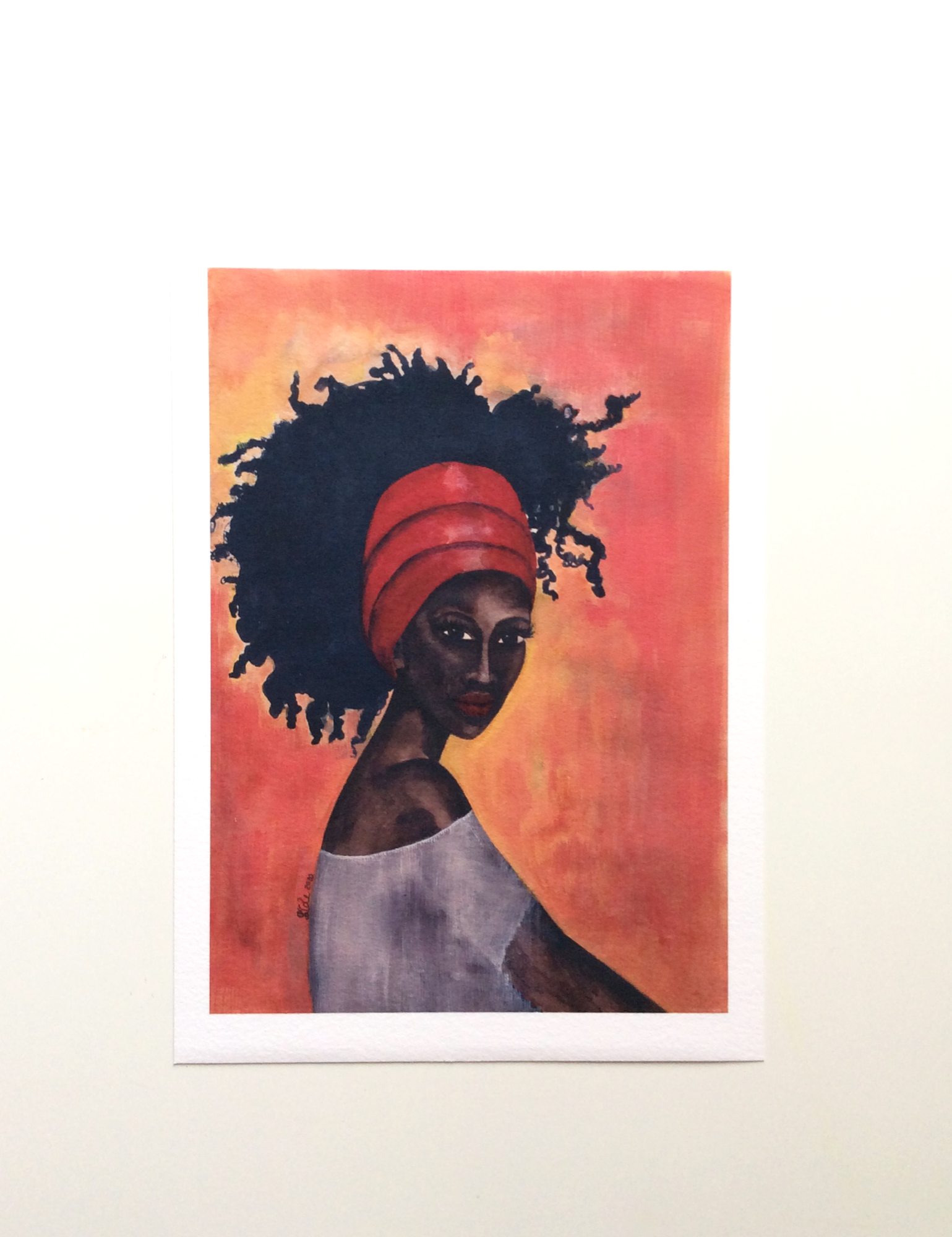 Black Woman Artwork print called 'Worthy' by Stacey-Ann Cole