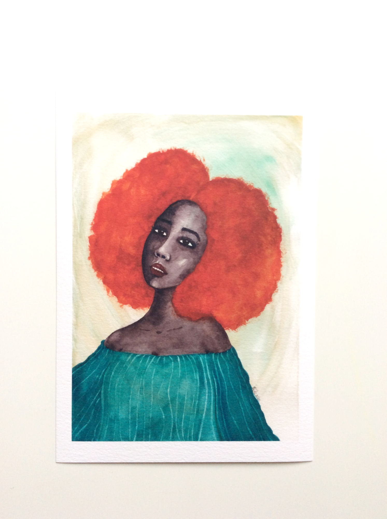 Black Woman Artwork print called 'New Dawn' by Stacey-Ann Cole